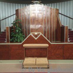 maatwerk doopvont van glas voor de kerk