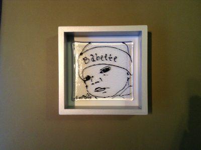 geboortkopje van By Vic glaskunst