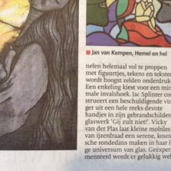 recensie Brabants Dagblad over glaskunst By Vic, Jeroen Bosch