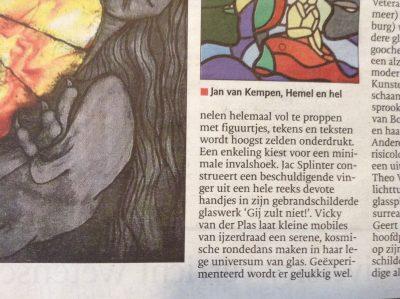 recensie Brabants Dagblad over glaskunst By Vic, Jeroen Bosch