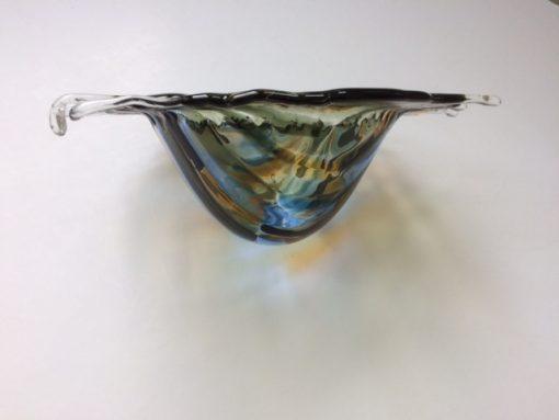 Aangespoeld - poisoned water in a bucket back side By Vic glaskunst