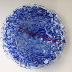 Chaos - grote schaal met pigmenten in glas By Vic glaskunst