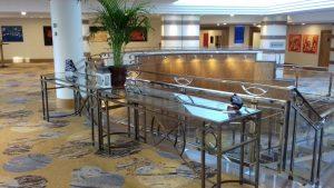 Expositie Hilton Hotel Charles de Gaulle Parijs met By Vic glaskunst