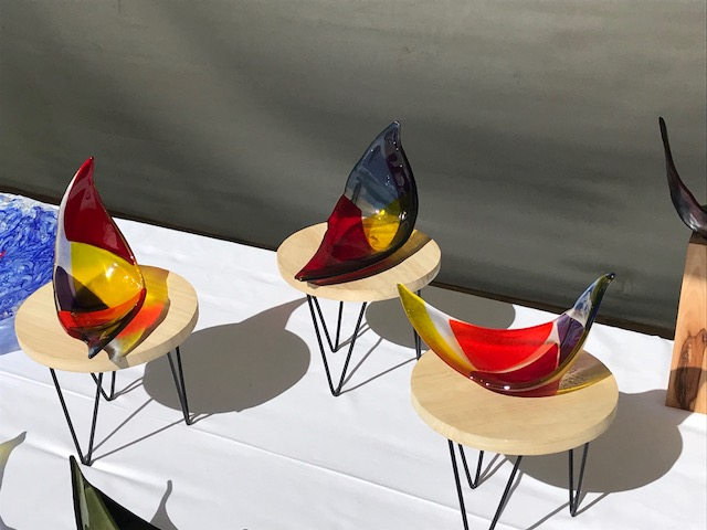 glazen vogels van By Vic glaskunst